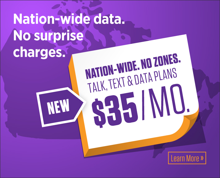 New Nation-Wide Talk, Text & Data Plans! Starting at $35/mo. No overage charges.