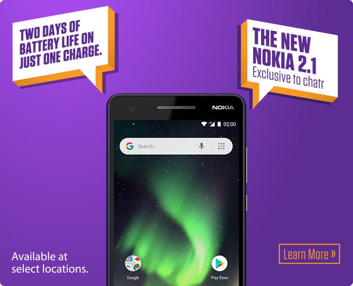 New Nokia 2.1! Learn more